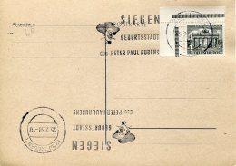 13204  Germany,  Special Postmark  Peter Paul Rubens,  Siegen  1958 - Rubens