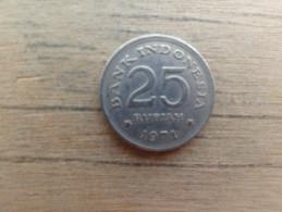 Indonesie  25  Rupiah  1971  Km 34 - Indonésie