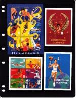 1996 Kenya Olympic Games Complete Set Of 5 Sheets NH (Basketball - Jordan, Boxing Ali) - Kenia (1963-...)