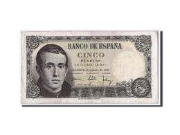 Espagne, 5 Pesetas, 1951, KM:140a, 1951-08-16, TB+ - [ 3] 1936-1975 : Régence De Franco