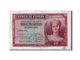 Espagne, 10 Pesetas, 1935, KM:86a, TB+ - [ 2] 1931-1936 : République