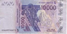 BILLETE DE 10000 FRANCS DEL BANCO CENTRAL DE ESTADOS DE AFRICA DEL OESTE LETRA S (BANKNOTE) - Billetes