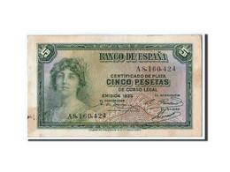 Espagne, 5 Pesetas, 1935, KM:85a, TTB - [ 2] 1931-1936 : Republiek