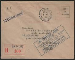 """ST NAZAIRE - """"1°journée D'affranchissement à La Machine"""" Sur LSC REC. De 1945"""