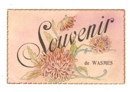 CPA  Fantaisie WASMES Souvenir De Wasmes Fleurs - Colfontaine