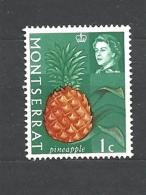 MONSERRAT  1965 Fruit & Vegetables With Portrait Of Queen Elizabeth II MNH  PINEAPLE - Montserrat