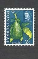 MONSERRAT  1965 Fruit & Vegetables With Portrait Of Queen Elizabeth II MNH  AVOCADO - Montserrat