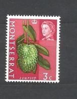 MONSERRAT  1965 Fruit & Vegetables With Portrait Of Queen Elizabeth II MNH - Montserrat