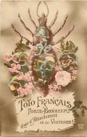 Guerre 1914-18 - Ref L70- Insectes - Le Toto Francais Porte Bonheur - Theme Pou -poux  -carte Bon Etat - - Guerre 1914-18