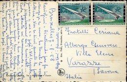 13225 Belgium,  Circuled Card  1958 From Belgium To Italy