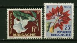 Rep. Madagascar**  N° 336/337 - Fleurs - Madagascar (1960-...)