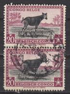 Congo Belge 267 Obl. En Paire Verticale - Belgisch-Kongo