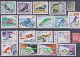 LOT OF USED STAMPS DEPORTES SPORTS ANIMALES  ANIMALS BIRDS PAJAROS  PAISES  COUNTRIES VARIOS  VARIOUS   S-1720 - Sellos