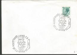 RIF17---   ITALIA REPUBBLICA ,  ANNULLI FILATELICI,      GIOCHI DELLA GIOVENTU,   LATINA,  1980, - Atletica