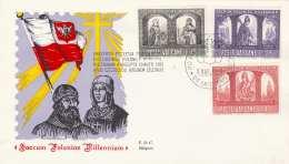 VATICAN Erstag-Schmuckbrief 3 Fach Frankiert Gel.1966 - FDC