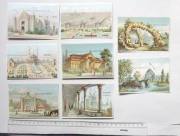 CHROMO Exposition Universelle De PARIS 1878: Lot 8 Différents Même Série - Trocadéro Champ De Mars Ville De Paris... - Other