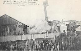 Conséquences Des Inondations De Paris 1910 - Usine Saint Sébastien Service Génie Sauter Une Cheminée Rue Entrepreneurs - Inondations De 1910