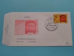 1976 INTERNATIONAL ROAD UNION - IRU ( F.D.C. P. 478 ) BRUSSEL 8-5-1976 ( Zie Foto ) ! - FDC