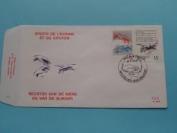 RECHTEN VAN DE MENS EN VAN DE BURGER ( F.D.C. P. 898 ) BRUSSEL 10-6-1989 ( Zie Foto ) ! - FDC