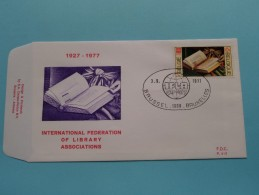 1927-1977 INTERNATIONAL FEDERATION OF LIBRARY ASSOCIATIONS ( F.D.C. P. 515 ) BRUSSEL 3-9-1977 ( Zie Foto ) ! - FDC