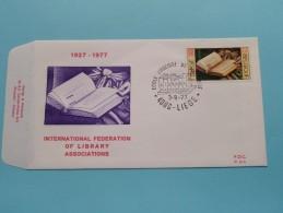 1927-1977 INTERNATIONAL FEDERATION OF LIBRARY ASSOCIATIONS ( F.D.C. P. 515 ) LIEGE 3-9-1977 ( Zie Foto ) ! - FDC