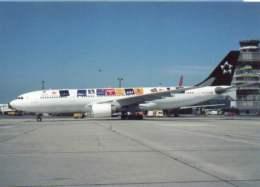 Airbus A330 Aircraft Lufthansa A-330 OE-LAO Airines A 330 Avion Aviation Aiplane A.330 - 1946-....: Era Moderna
