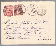 Switzerland, 1892, For Haute Savoie - 1882-1906 Coat Of Arms, Standing Helvetia & UPU