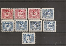 Slovaquie ( Taxe Entre 1 Et 12 X -MH) - Neufs