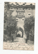 G-I-E , Cp , SUISSE , St. GALL, St. GALLEN , Karlsthor , Dos Simple , Voyagée 1904 ,union Postale Universelle - SG St. Gall