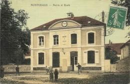 MONTCEAUX . MAIRIE ET ECOLE - France