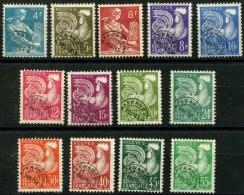 France Préos (1953) N 106 à 118 (o) - 1953-1960