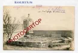 BASLIEUX-Monument-Cimetiere-CARTE PHOTO Allemande-Guerre 14-18-1 WK-France-54- - Other Municipalities