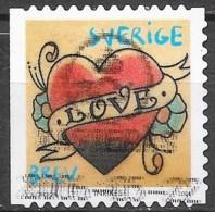 Suède - Saint Valentin - Y&T N° 2498  - Oblitéré - Svezia