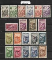 Lot De 20 Timbres Différents REUNION  ~  Emis En 1943  Colonie Française