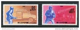 KOREA NORD Rettungs- Und Feuerwehrwesen MiNr. 3036 + 3037 Postfrisch / ** - Korea (Nord-)