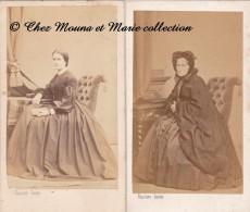 ROBE DU XIX EME SIECLE - TENUE D EPOQUE - GUSTAVE JEUNE - LOT DE 2 CDV PHOTO - Anciennes (Av. 1900)