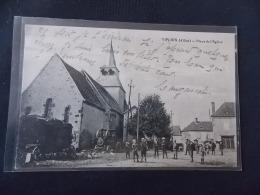 """Viploix """" Viplaix """" Allier Place De L Eglise """" Batteuse Locomotive """" - France"""