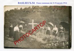 BASLIEUX-Fosse Commune De 21 Soldats Francais-1914-CARTE PHOTO Allemande-Guerre 14-18-1 WK-France-54- - Other Municipalities