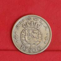 ANGOLA 10 ESCUDOS 1952 - 5 GRS - 0,720 SILVER   KM# 73 - (Nº16226) - Angola