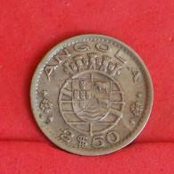 ANGOLA 2,5 ESCUDOS 1953 -    KM# 77 - (Nº16232) - Angola