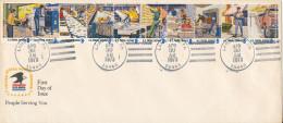 USA FDC Lansdale Pa. 30-4-1973 Postmen At Work Service Postal Complete 10 Stripe - 1971-1980