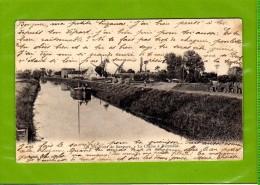CPA : BERGUES  La Colme A Hoymille  Moulin Peniche Chemin De Halage - Bergues