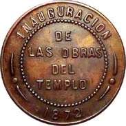 ESPAÑA. ALFONSO XII. MEDALLA INAUGURACIÓN DE LAS OBRAS DEL TEMPLO, ZARAGOZA 1.872. ESPAGNE MEDAILLE. SPAIN MEDAL - Monarchia/ Nobiltà