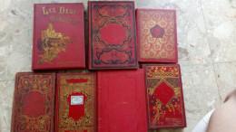 """LOT 7 ROMANS ANCIENS POUR LES JEUNES De Type ´bibliothèque D´éducation"""" Hachette Hatier Duval Mame Decombejean ... .... - Boeken, Tijdschriften, Stripverhalen"""