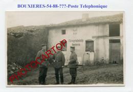 BOUXIERES Sous FROIDMONT-Centrale Telephonique-CARTE PHOTO Allemande-Guerre 14-18-1 WK-France-54- - France
