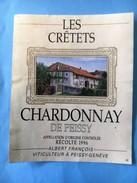 1824 - Suisse Genève Chardonnay De Peissy Les Crêtets 1996 - Autres