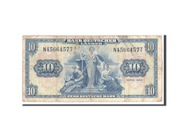 République Fédérale Allemande, 10 Deutsche Mark, 1949, KM:16a, 1949-08-22, TB - [ 5] Ocupación De Los Aliados
