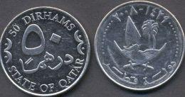 Qatar 50 Dirhams 2008 - 1429 AUNC   = Ship = - Qatar