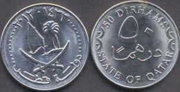Qatar 50 Dirhams 2012 - 1433 UNC   = Ship = - Qatar