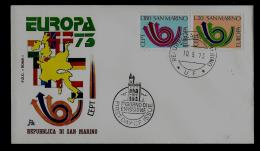 FDC  -EUROPA CEPT  - 1973  -   SAN MARINO - Europa-CEPT